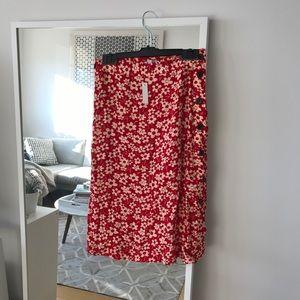 Madewell Midi length side button skirt